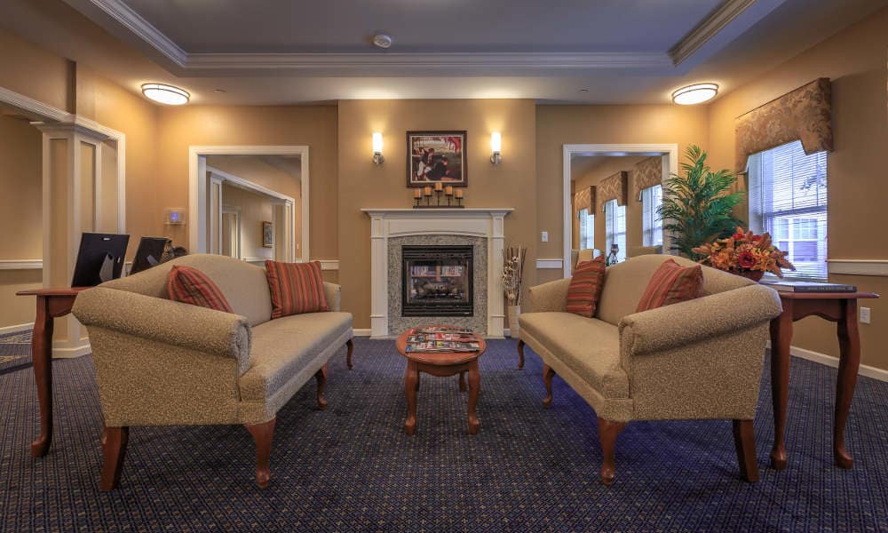 Lobby at All American Assisted Living at Wrentham