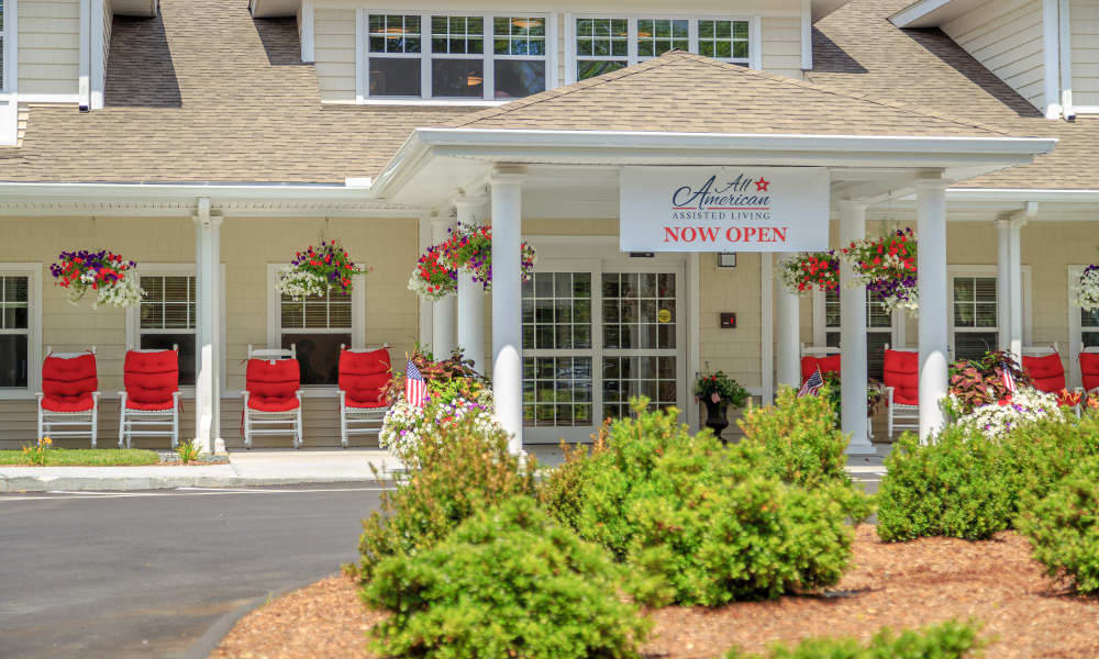 All American Assisted Living at Raynham's exterior front view