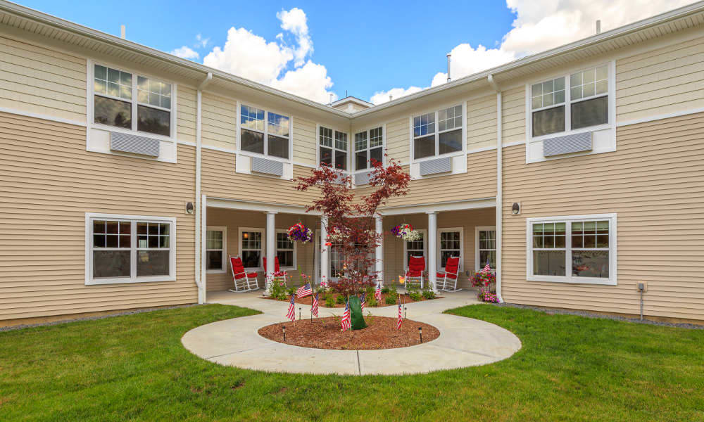 Exterior view of All American Assisted Living at Wrentham