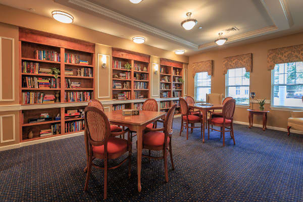 Library at All American Assisted Living at Raynham