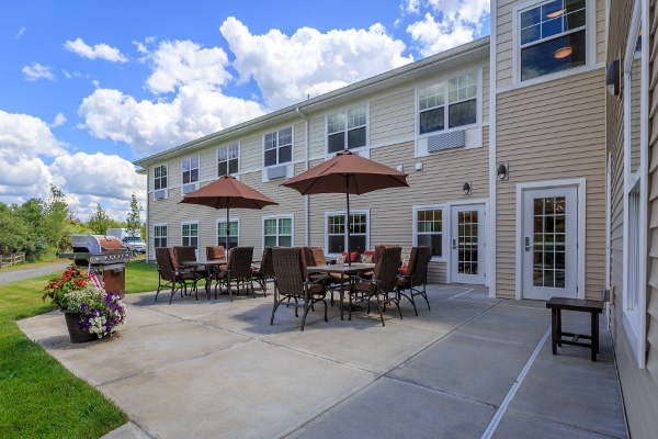 Spacious exterior areas at All American Assisted Living at Raynham