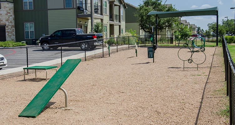 Pet playground at Springs at Cottonwood Creek Apartments