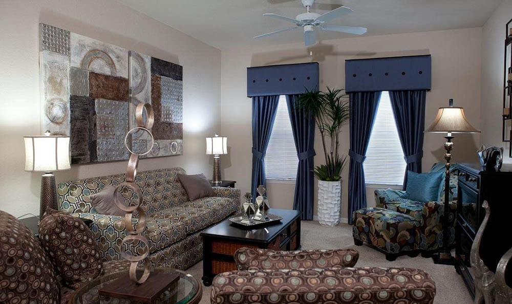 Beautiful Living Room At Lost Creek at Lakewood Ranch