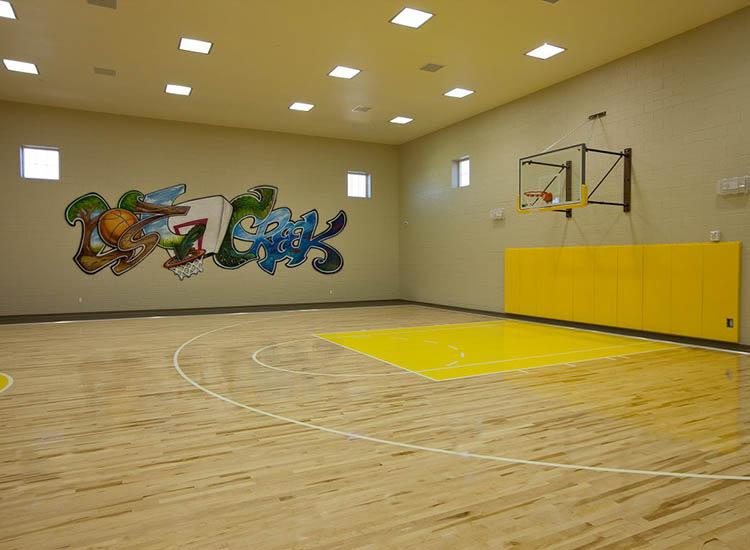 Indoor Basketball Court At Lost Creek at Lakewood Ranch