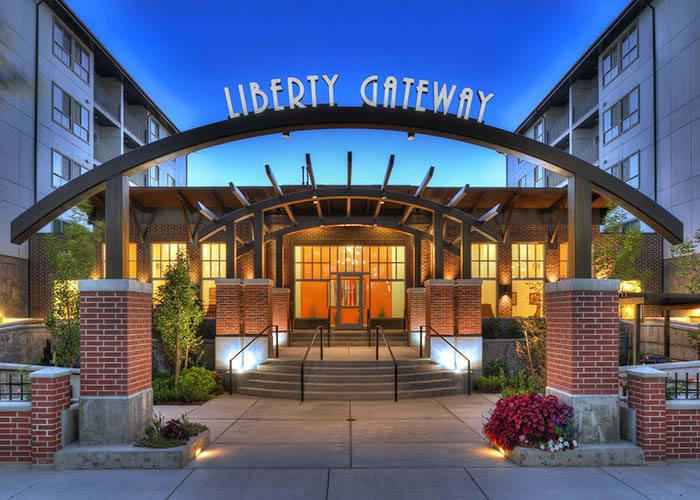 exterior of Liberty Gateway