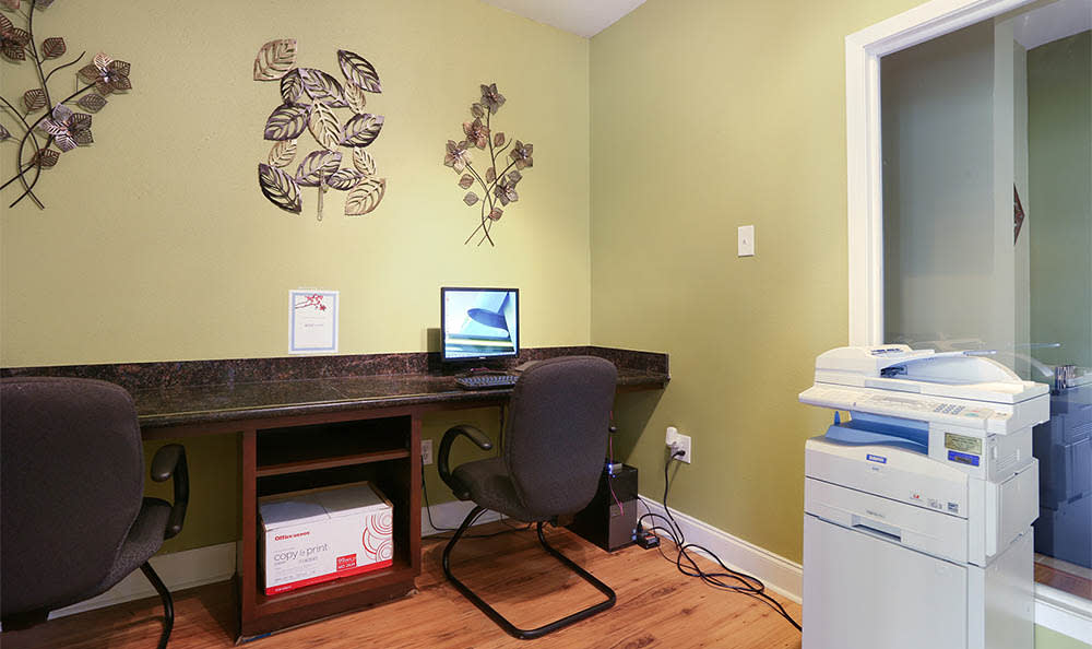 Office Area At The Mayfair Apartment Homes