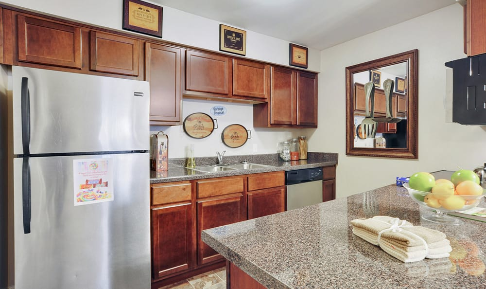Kitchen at Emerald Pointe Apartment Homes