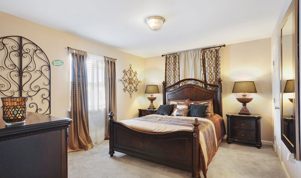 Master bedroom at Emerald Pointe Apartment Homes
