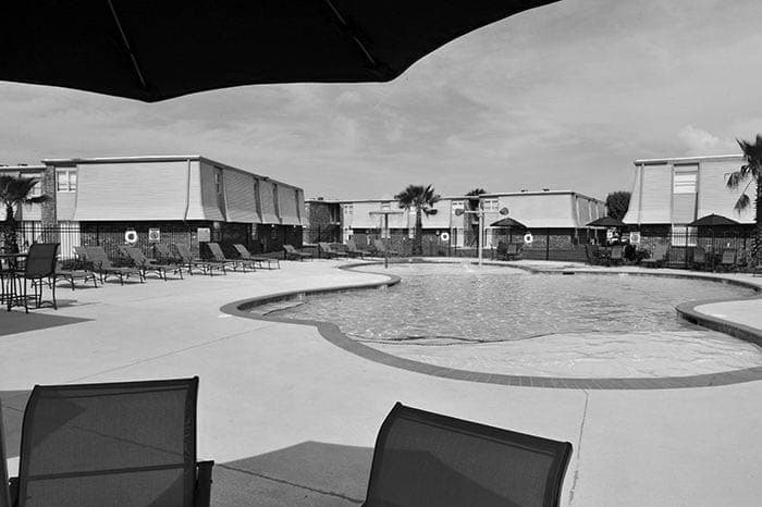 Emerald Pointe Apartment Homes beautiful pool in Harvey