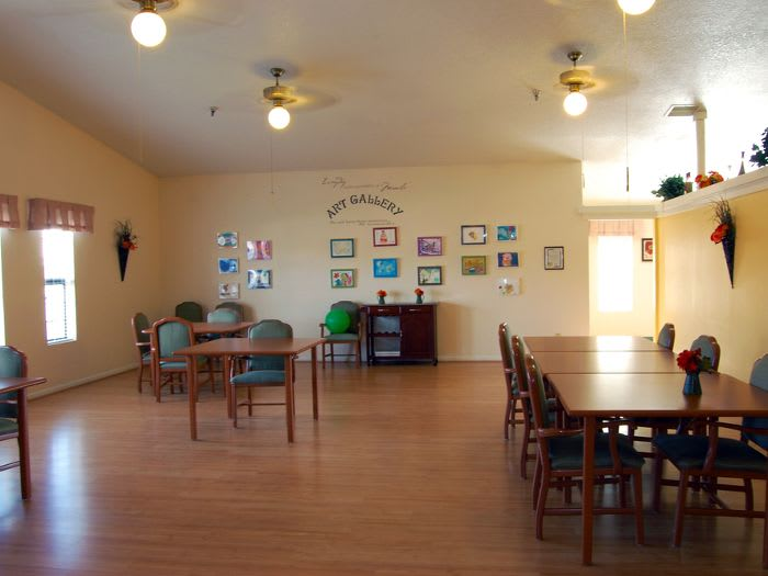 art room at Valley Crest Memory Care in Apple Valley, CA