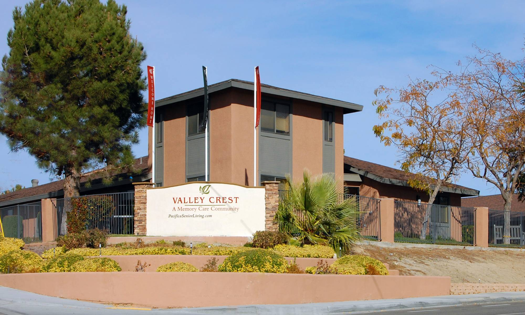 Main sign of Valley Crest Memory Care