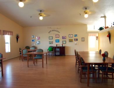 Activity room at Valley Crest Memory Care in Apple Valley, CA