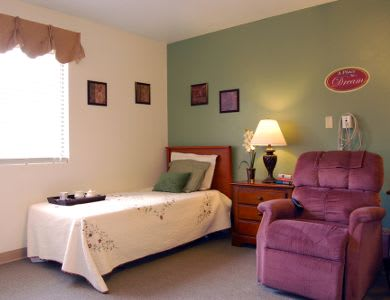 Bedroom at Valley Crest Memory Care in Apple Valley, CA