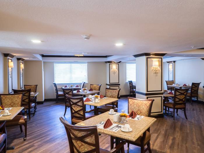 Full-service dining program for our senior living residents at The Meridian at Westwood
