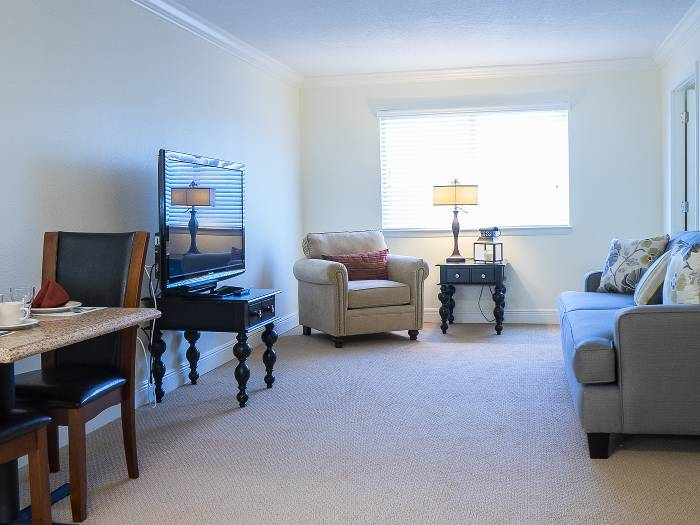Spacious senior apartment floor plan at The Meridian at Westwood