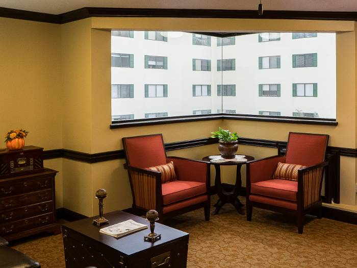 comfortable living room at our senior living facility in Fort Walton Beach, FL