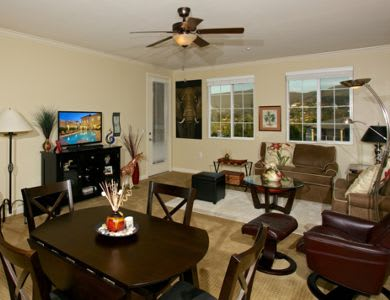 Comfortable Living And Dining Room At The Meridian At Lake San Marcos In  San Marcos,