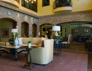 spacious and comfortable living room at The Meridian at Lake San Marcos in San Marcos, CA