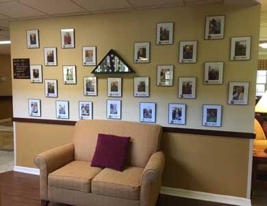 Veterans Wall at Sun City Senior Living