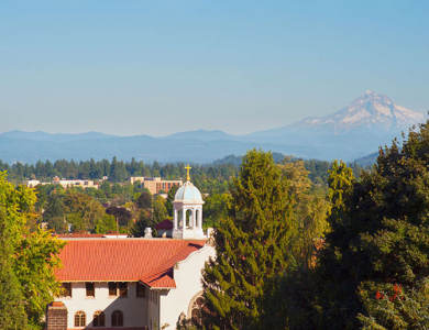 Beautiful landscape with mountain view seen from St. Andrews Memory Care