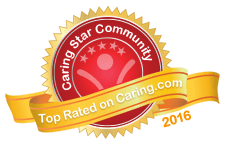 Caring Star Community 2016 award for Sierra Vista Independent and Assisted Living