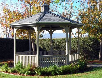 Outdoor gazebo at Pacifica Senior Living: Riverside Legacies Memory Care