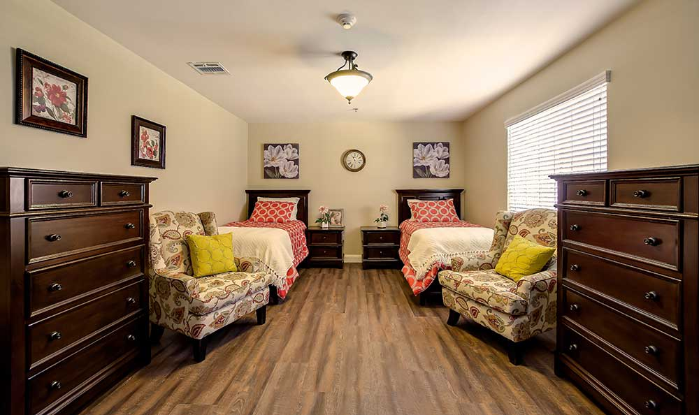 Bedroom at Pacifica Senior Living: Riverside Legacies Memory Care