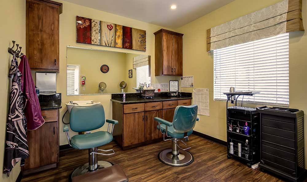Salon at Pacifica Senior Living: Riverside Legacies Memory Care