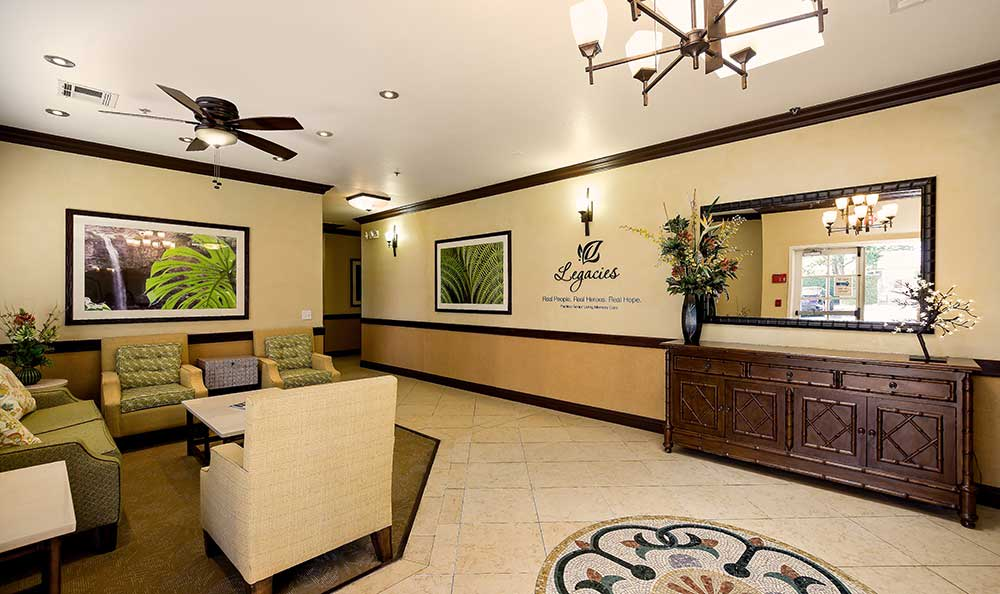 Lobby at Pacifica Senior Living: Riverside Legacies Memory Care