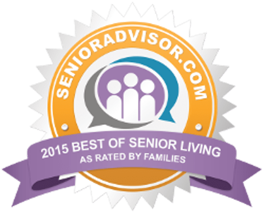 2015 BEST OF SENIOR LIVING Award for Pacifica Senior Living Victoria Court