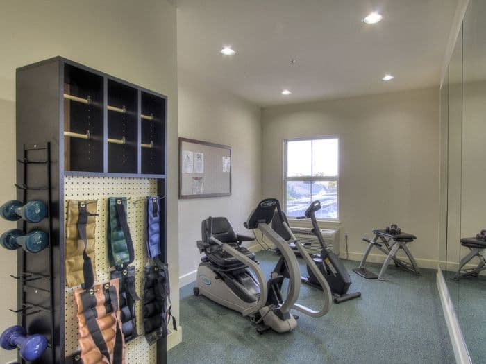 exercise facility at Pacifica Senior Living Union City in Union City, CA