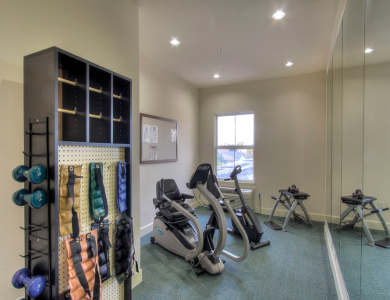 Fitness room at Pacifica Senior Living Union City
