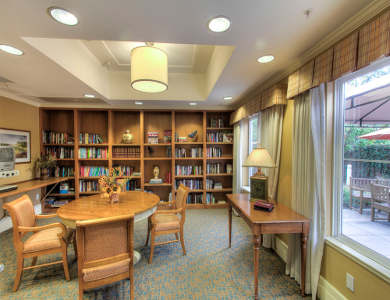 library at Pacifica Senior Living Union City