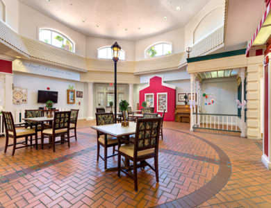 Our dining hall at Pacifica Senior Living Spring Valley