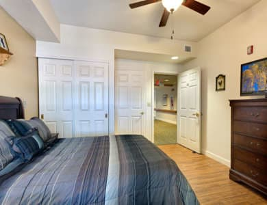 Spacious bedroom at Pacifica Senior Living Spring Valley