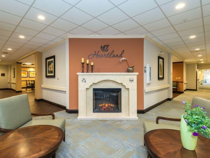 beautiful hallway at Pacifica Senior Living Santa Fe in Santa Fe, NM
