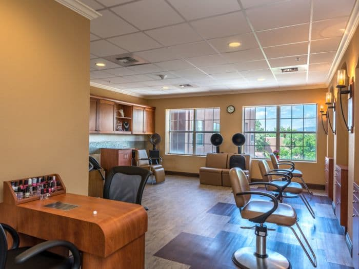 beauty salon at Pacifica Senior Living Santa Fe in Santa Fe, NM