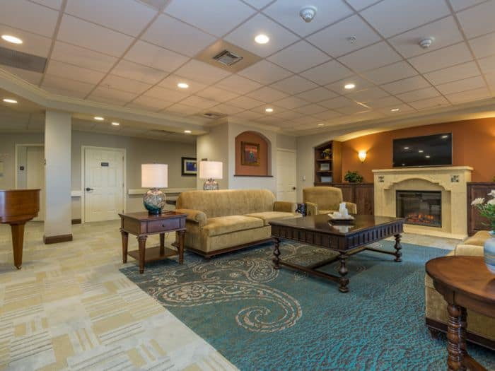 gorgeous living room at Pacifica Senior Living Santa Fe in Santa Fe, NM