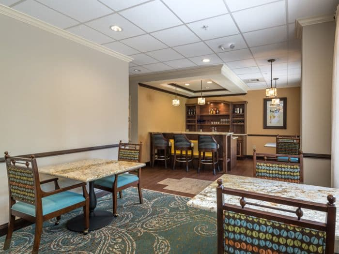 kitchen dining room combo at Pacifica Senior Living Santa Fe in Santa Fe, NM