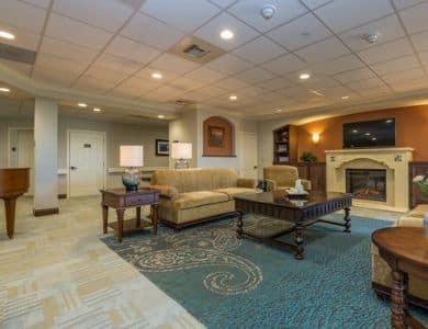 Spacious living room at Pacifica Senior Living Santa Fe