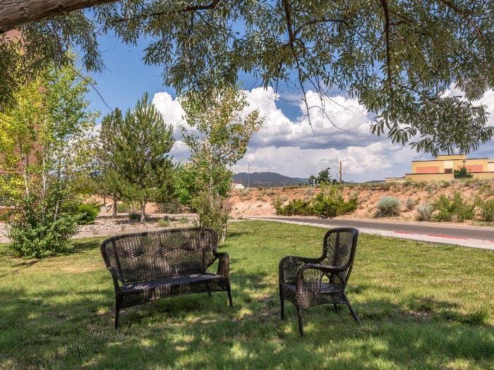 inner garden at Pacifica Senior Living Santa Fe in Santa Fe,NM