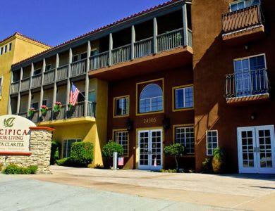 exterior building view at Pacifica Senior Living Santa Clarita
