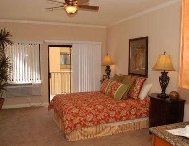 studio bedroom at Pacifica Senior Living Santa Clarita