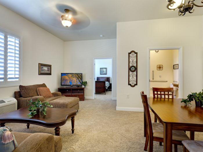 living room at Pacifica Senior Living San Martin in Las Vegas, NV