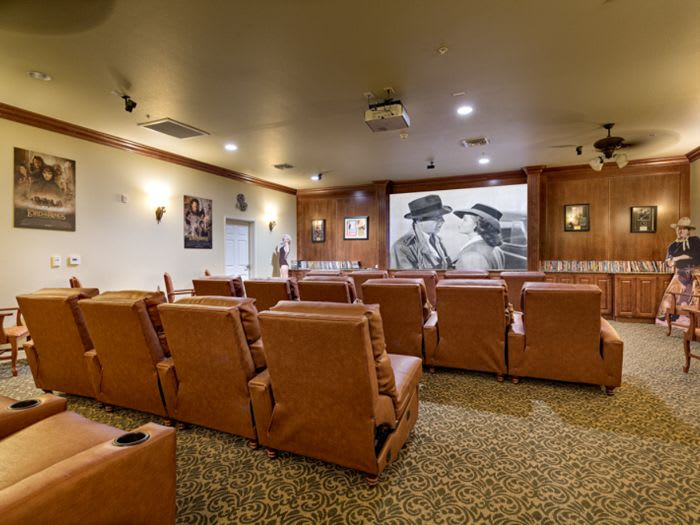 cinema room at Pacifica Senior Living San Martin in Las Vegas, NV