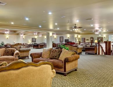 Spacious living room at Pacifica Senior Living San Martin in Las Vegas, NV
