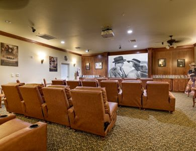 Enjoy a movie at Pacifica Senior Living San Martin in Las Vegas, NV