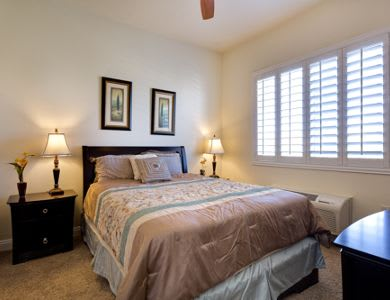 Bedroom at Pacifica Senior Living San Martin in Las Vegas, NV