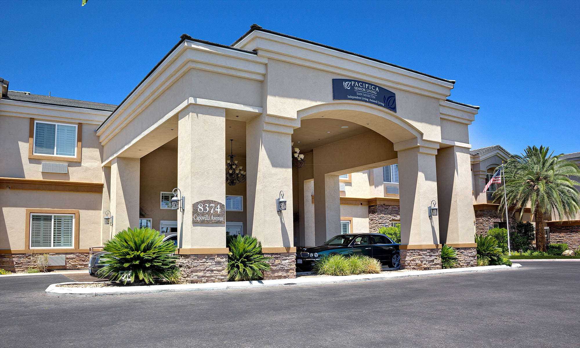 Exterior of Pacifica Senior Living San Martin