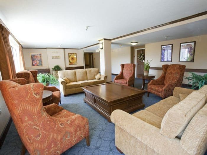comfortable couches at Pacifica Senior Living San Leandro in San Leandro, CA